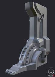 Sci-Fi Column - High poly WIP2