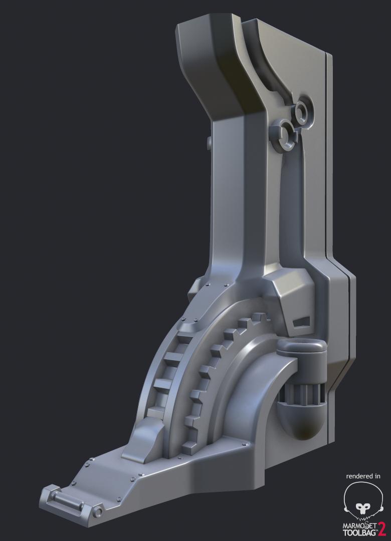 Sci-Fi Column - High poly WIP2 by 3DPad