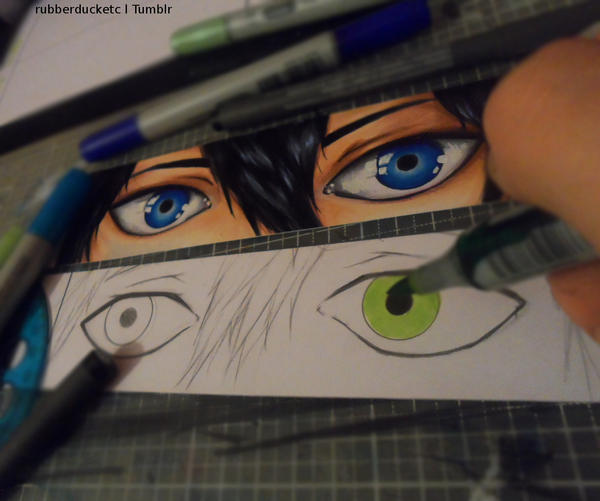 Free! eyes WIP by CosmosKitty