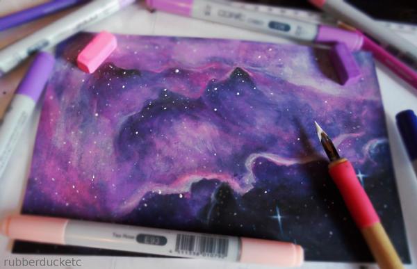 Nebula Sketch by CosmosKitty
