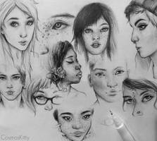 Face Studies III by CosmosKitty