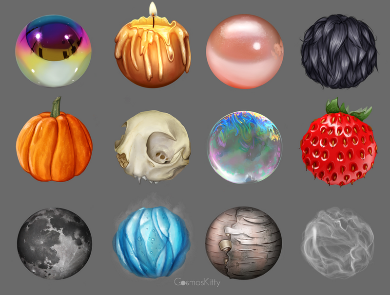Material Studies by CosmosKitty