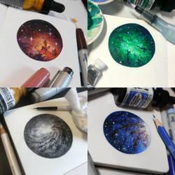 Starry Doodles #1-4