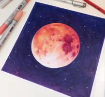 Blood Moon (+Timelapse Video) by CosmosKitty