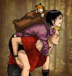 Nami86: Calvin, Hobbes + Susie