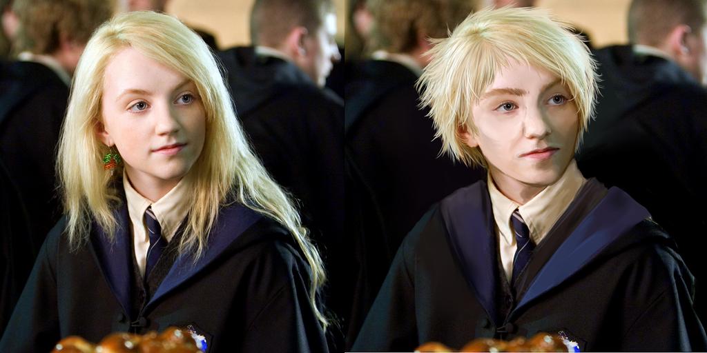 Luna Lovegood Then And Now Gender Bender Comparis...