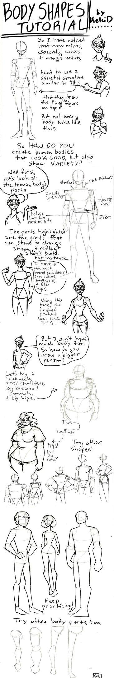 Body Shapes Tutorial by KelciD