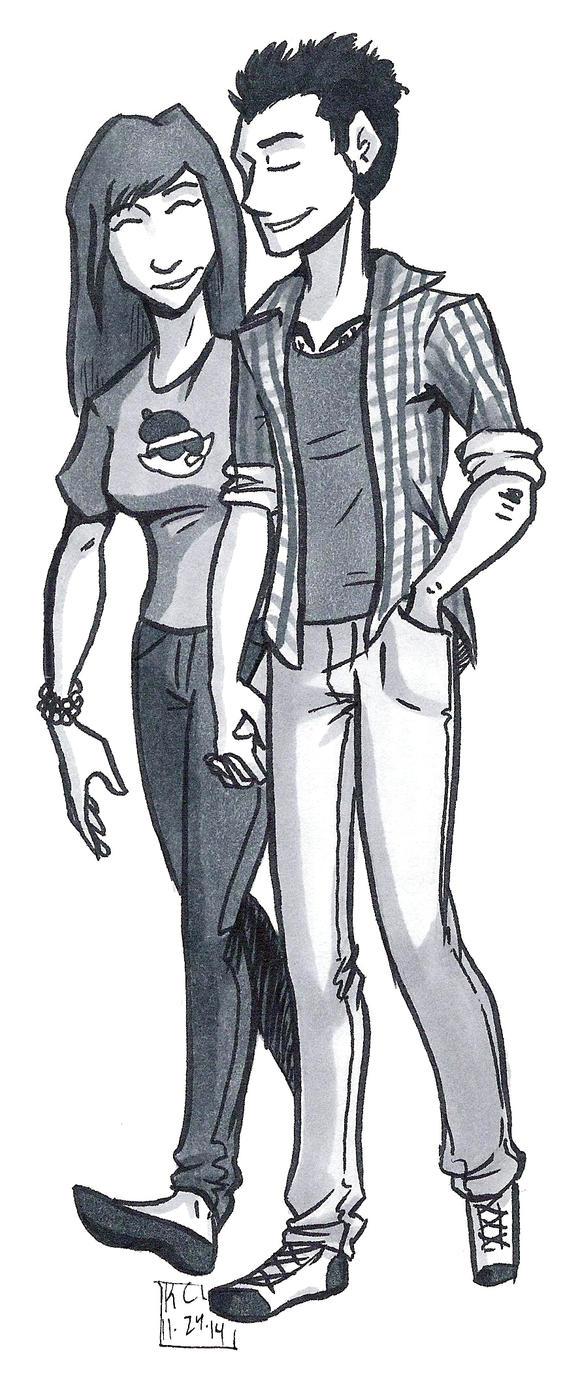 Seeing Him: Adam and Kate Sketch by KelciD