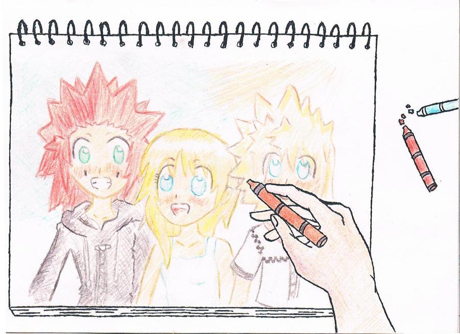 Kingdom Hearts -Namine drawing by Eingel91 on DeviantArt