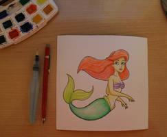 Ariel watercolors practice by Eingel91