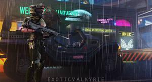 Neon Rain (Helmet)