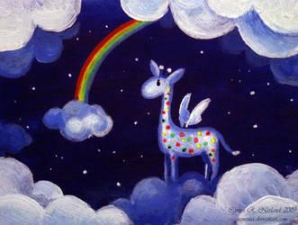 Rainbow Giraffe by Xenonia