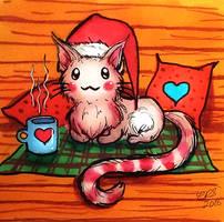 Candy Cane Cat [Super Speedy Sketch] by Xenonia