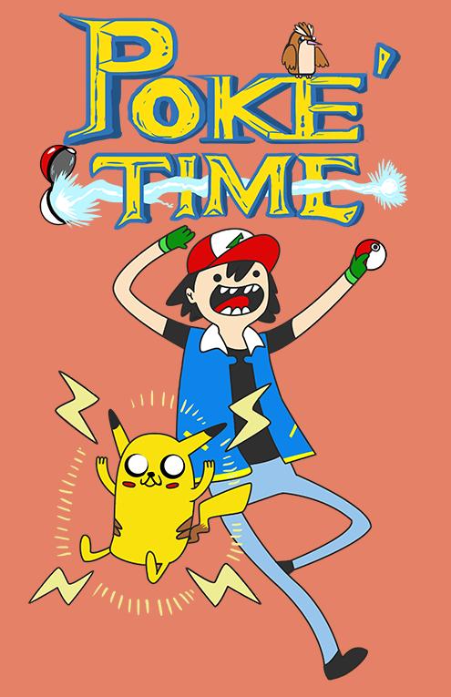 It's POKE'TIME!: T-shirt by Littletde
