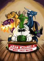 Hiram McDaniels for Mayor! by Littletde
