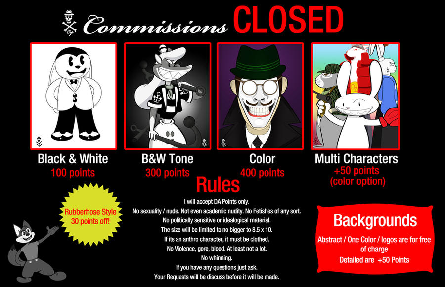 Commission Chart (CLOSED) by CZProductions
