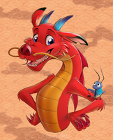 Mushu and Cricket