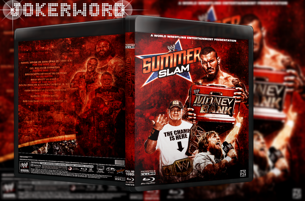WWE Summer Slam 2013 BLU-Ray Cover :~) by JoKeRWord