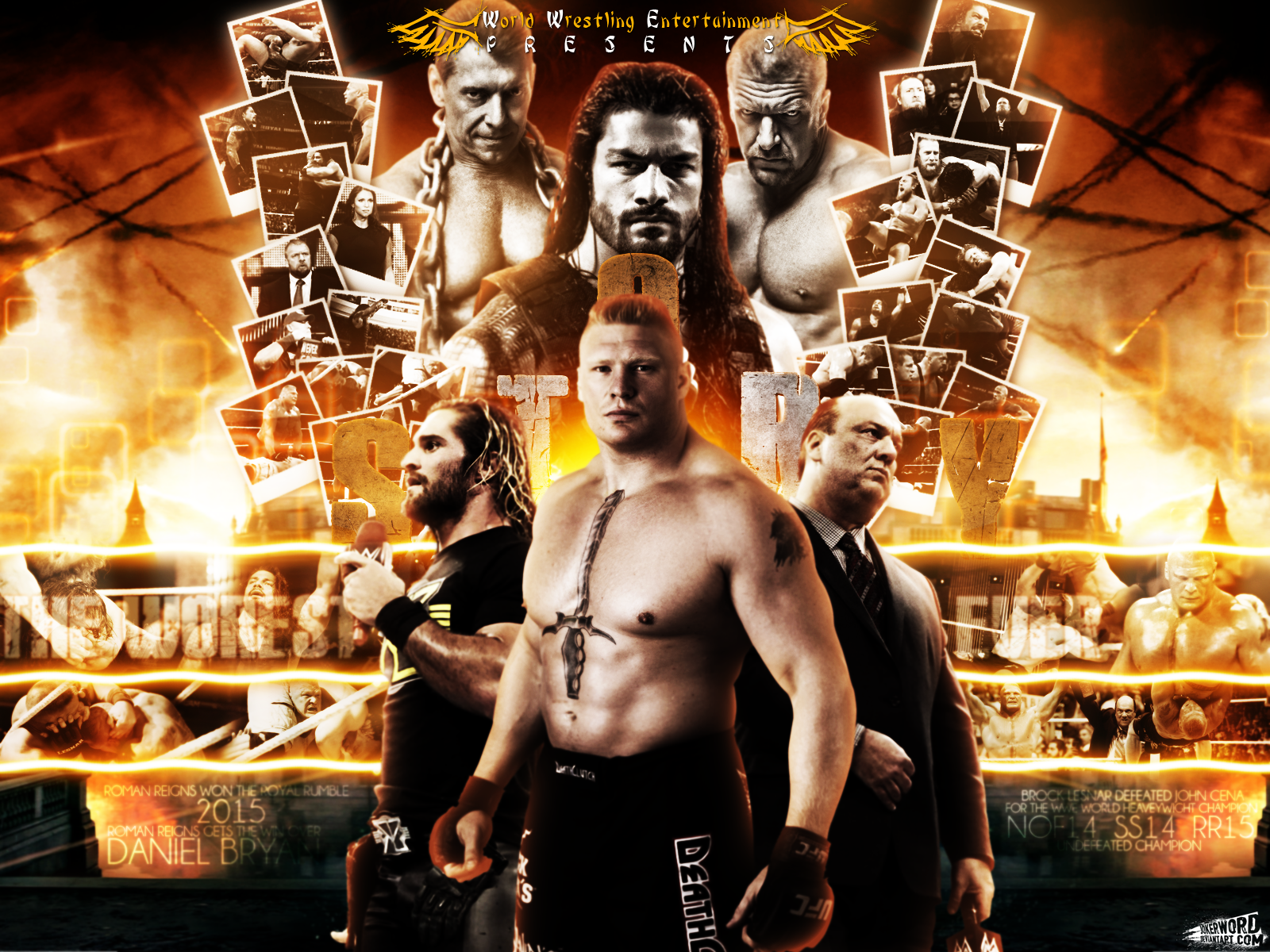 Wrestlemania 31 Brock Lesnar VS Roman Reigns By JoKeRWord