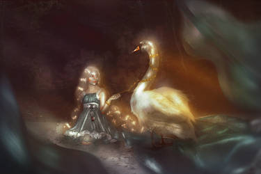 enchanted swan by Silviene