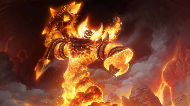 Ragnaros-in-molten-core-world-of-warcraft-classic-