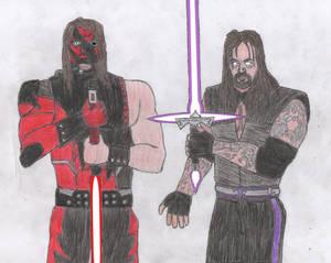 Undertaker and Kane as Dark Jedi