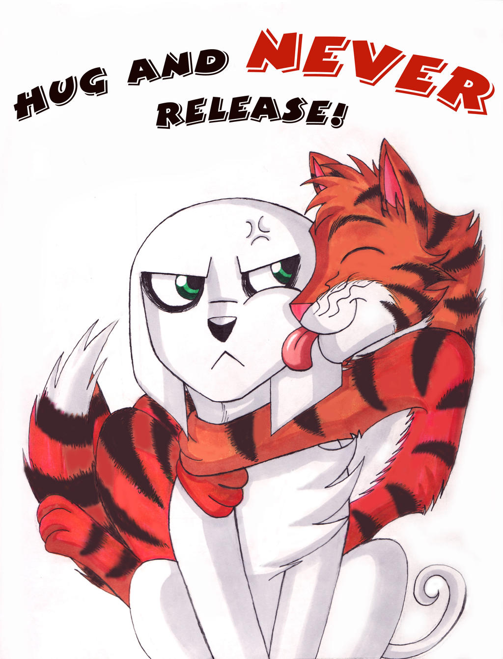 Hug and NEVER Release by WhiteFangKakashi300 on deviantART