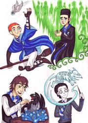 Boys of Ravenclaw 1 by WhiteFangKakashi300