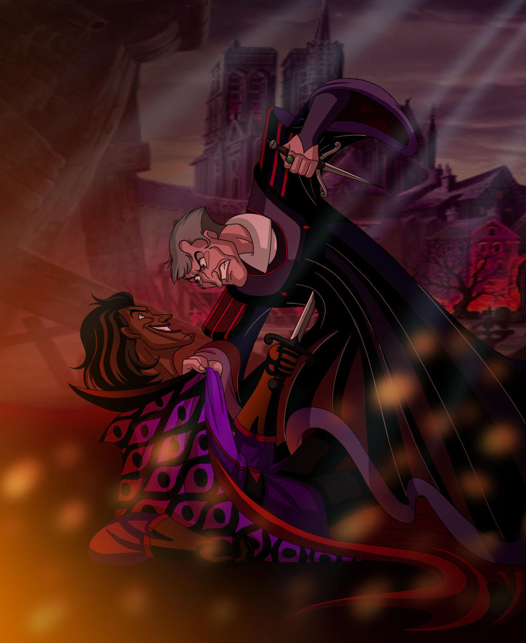 Frollo Vs Sarousch By WhiteFangKakashi300 On DeviantArt
