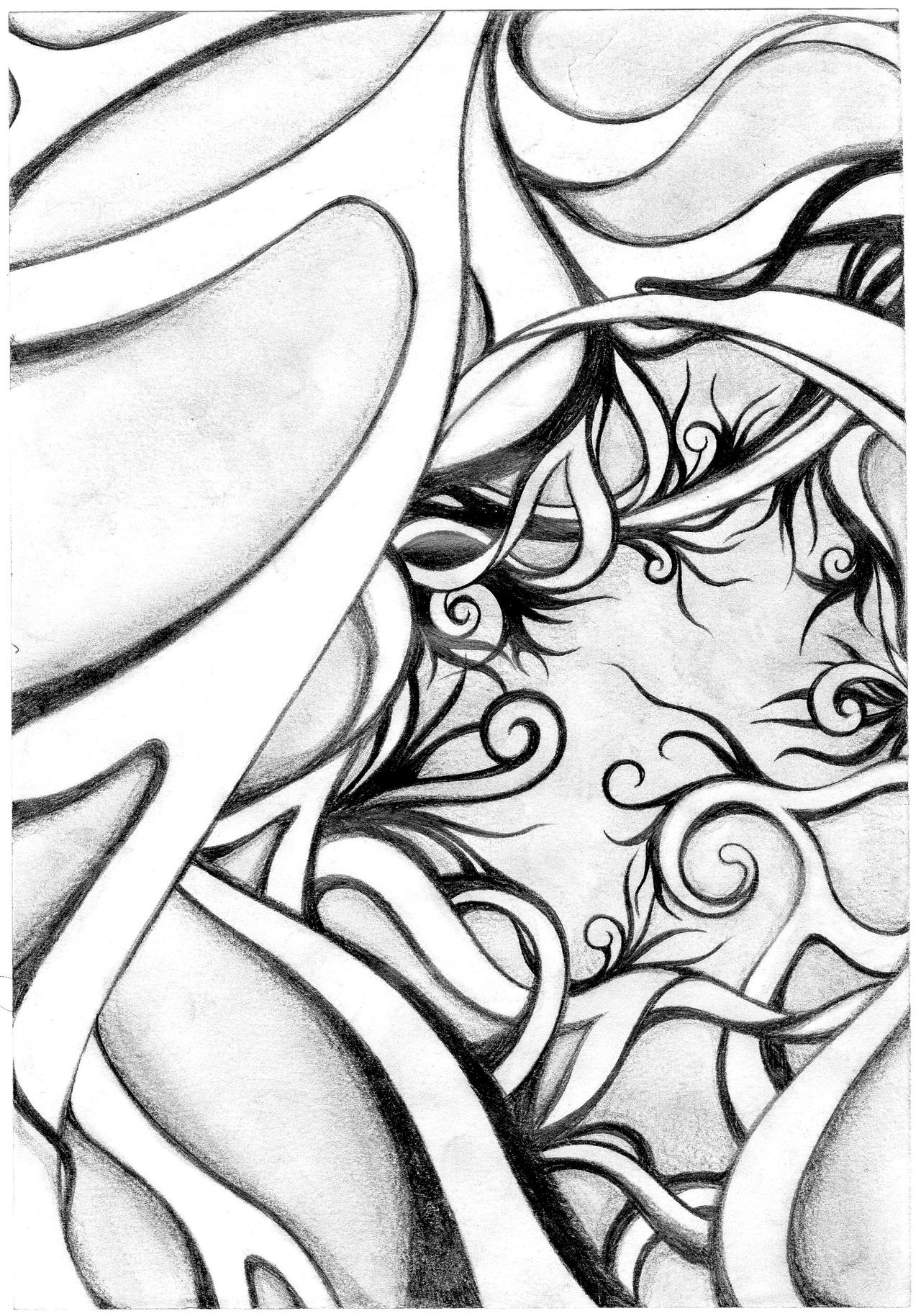 Abstract Face Line Drawing : Abstract pencil drawing by adrianforoughi on deviantart