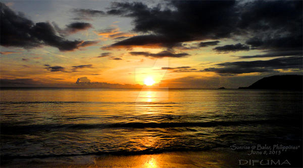 Sunrise-at-Baler-Philippines-June-8,-2013 by princessdyan16