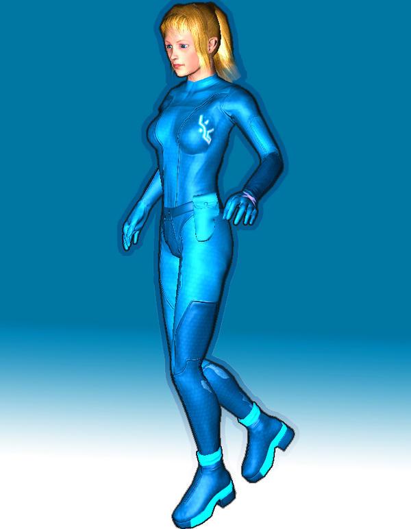 Zero Suit Samus game model by Quique1