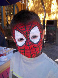 Facepaint - Spiderman by GraphiteGhost