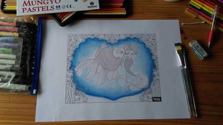Mermaid Kisses Coloring Page