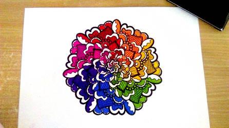 Rainbow Baked Goods Mandala