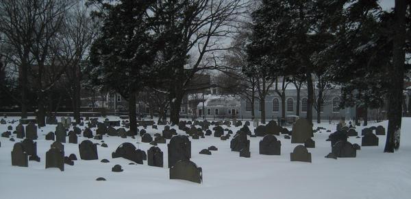 Graveyard Snowfall