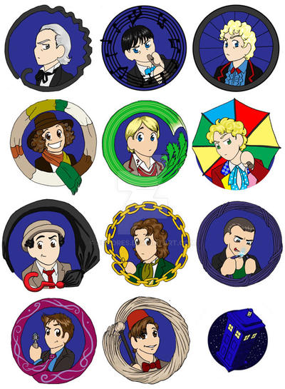 Chibi Doctor buttons by JesIdres