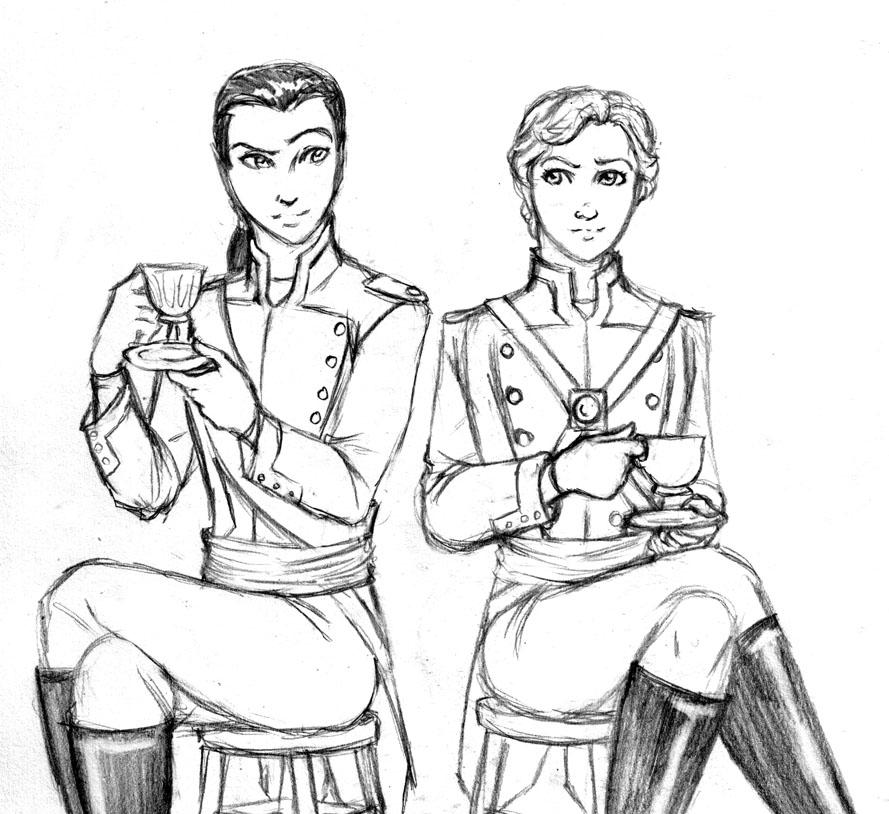 Mess Hall Officers by JesIdres