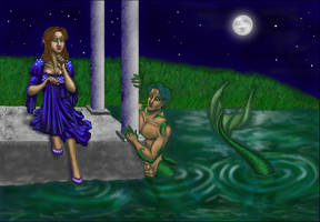 In the Water of the Garden by JesIdres