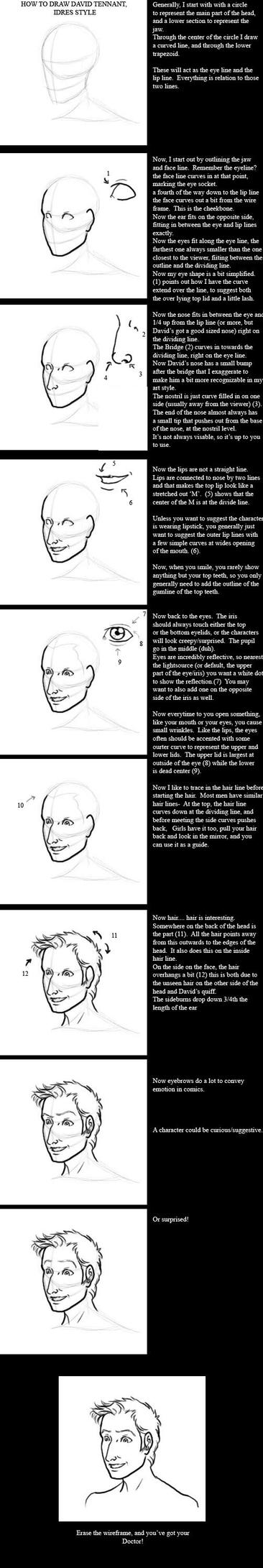 How to Draw the Doctor's Face by JesIdres