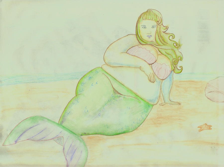 Big Sexy Mermaid by mollygrace