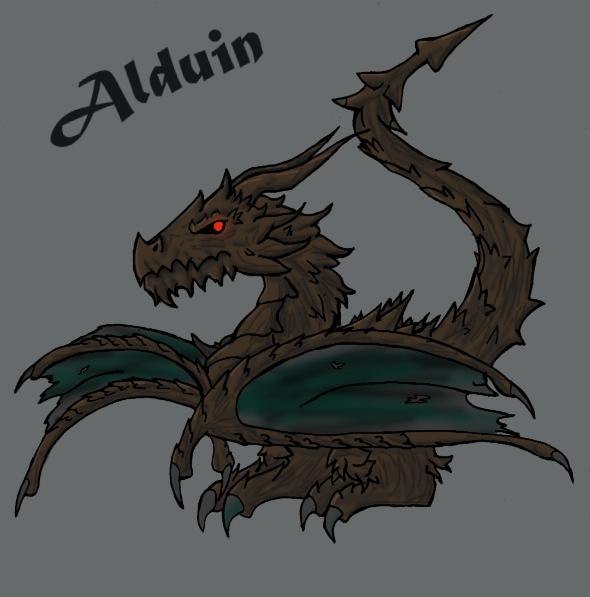 Chibified Alduin The World Eater by DracorianAmanda