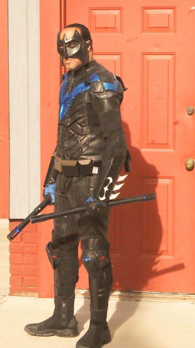 Nightwing Arkham Knight 5 by BludhavenStudios