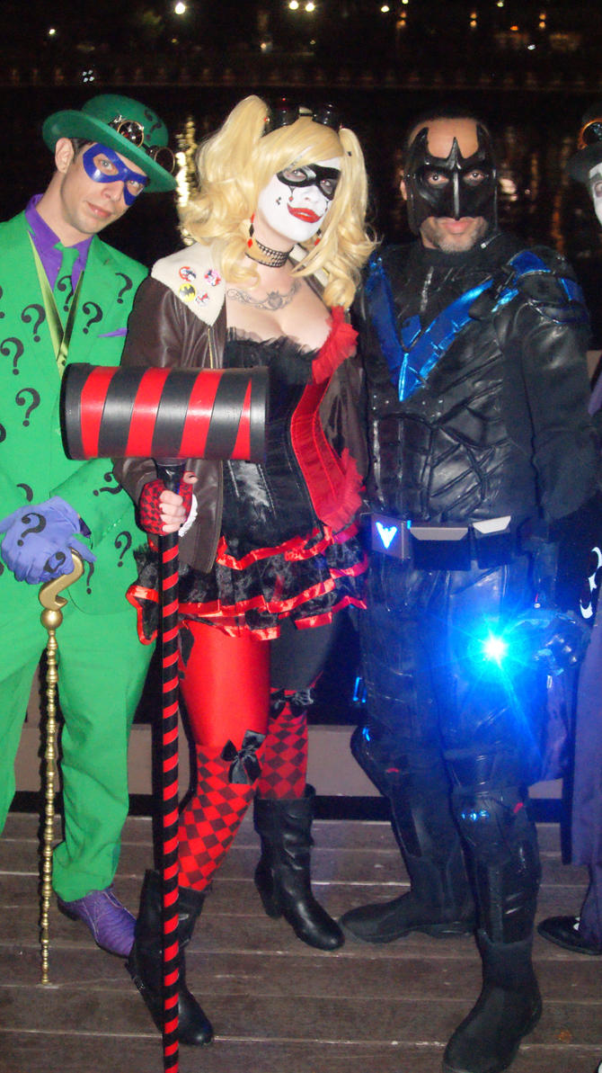 Riddler Harley Quinn and Nightwing by BludhavenStudios