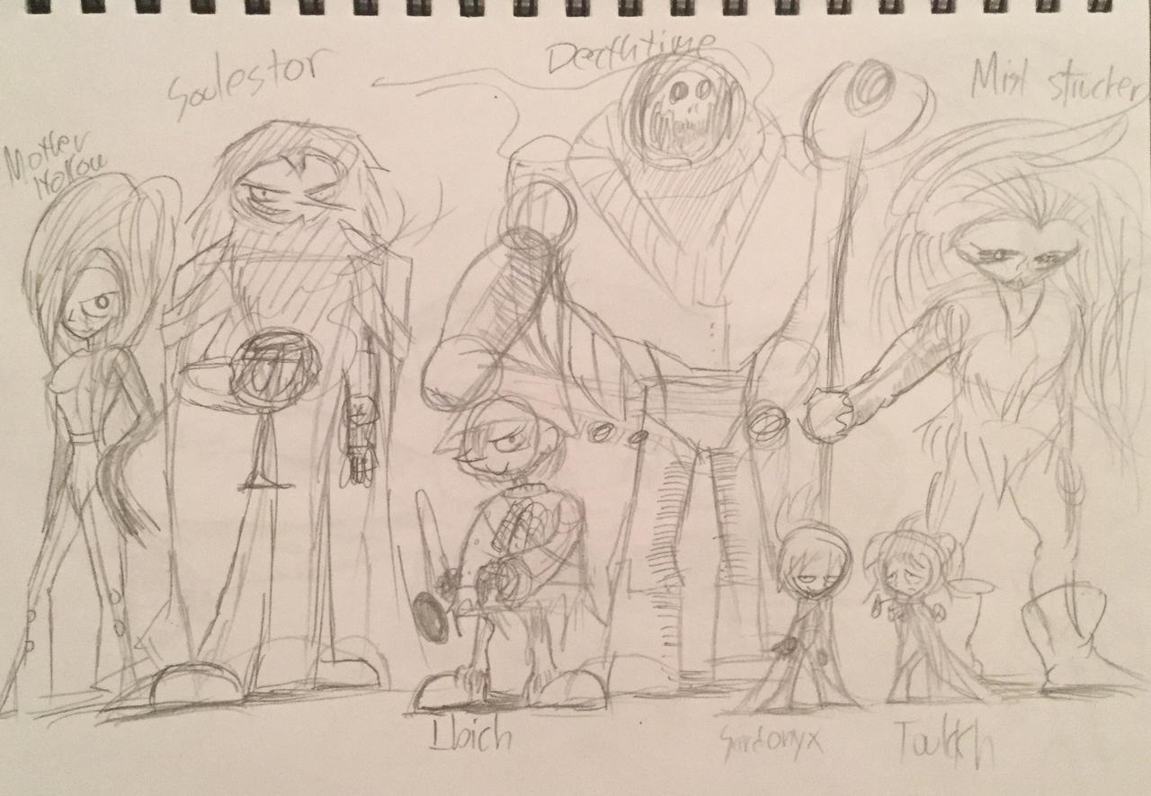 The Black Hole Mercenaries ( Rough Sketch ).