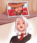 Overwatch Ashe and Mcree