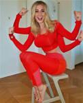 Diletta Leotta Spider Woman in Red