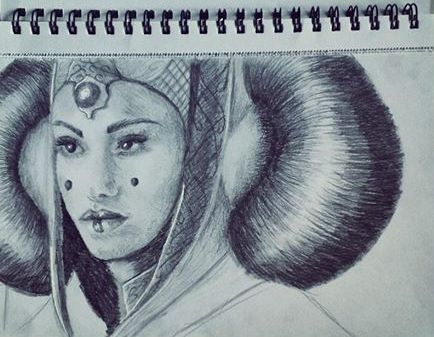 Queen Padme Amidala Sketch by JacqueMatt