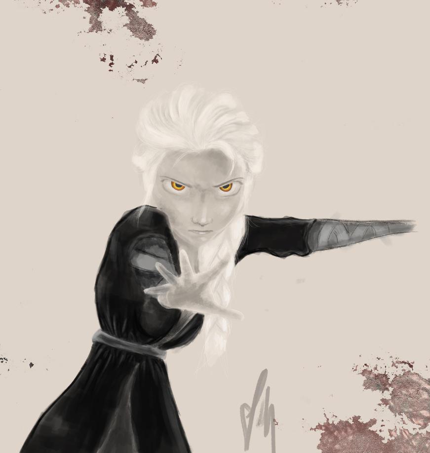Sketch - Darth Elsa by JacqueMatt