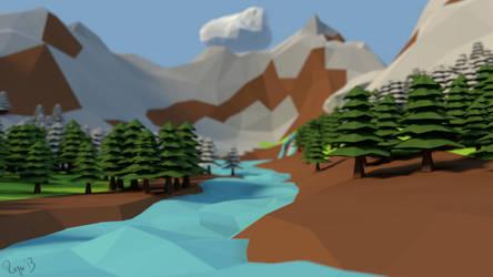 Geometric mountains by viechacik
